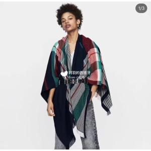 欧阳娜娜同款 Maje混彩毛衣€148收黑五价:5折起+折上85折 封面同款拼色披肩€48.45
