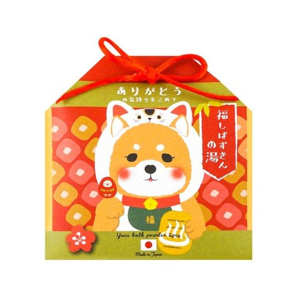 日本HONYARADOH养生堂 开运招财系列浴盐套组 2包入 招柴犬 限量版 - 亚米网