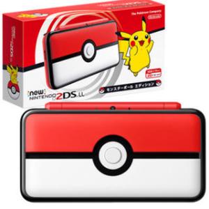 直邮美国到手价$134日亚黑五好价 任天堂 New 2DS LL 口袋妖怪 精灵球 限定版主机