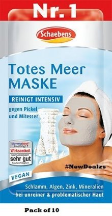 Schaebens Dead sea Mask - Pack of 10 (10 x 15ml for 10 Applications)