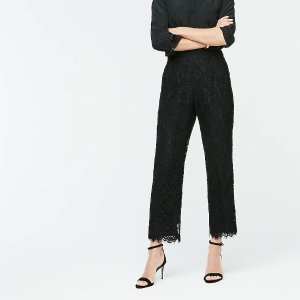 J.CrewHigh-rise pull-on Peyton wide-leg pant in lace