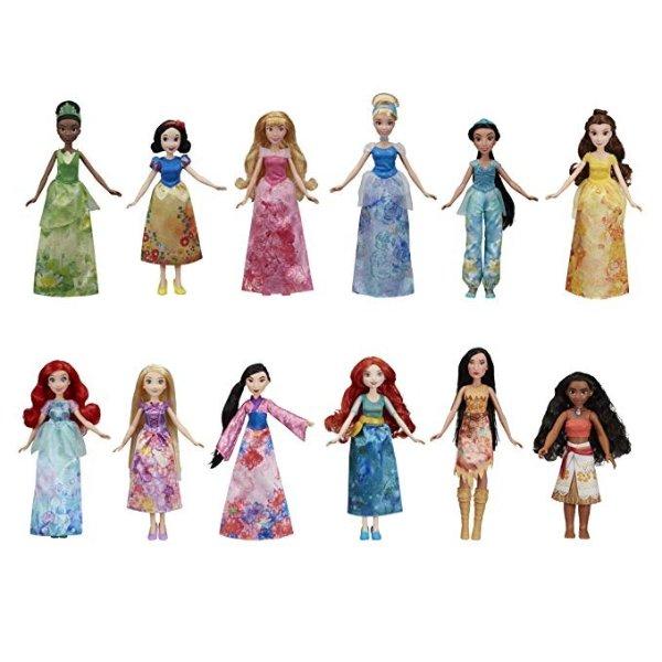 迪士尼公主系列12位公主玩偶