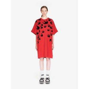 MCQ ALEXANDER MCQUEENSignature Swallow T-Shirt Dress