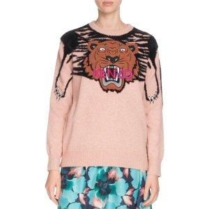 8ed27b15e4d KenzoClaw Tiger Logo Crewneck SweaterRuffle Floral-Print Side-Tie Skirt
