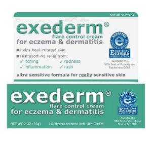 Exederm Flare Control 1% Hydrocortisone Anti Itch Cream 2oz : Target