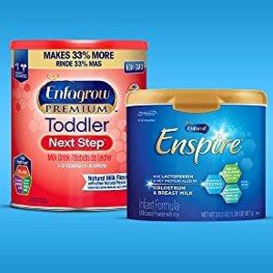 立减$17.62美赞臣 婴幼儿配方奶粉/液体奶促销,$20.5每罐