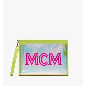 MCM透明沙滩手拿包