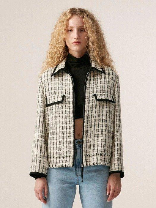 黑白针织外套