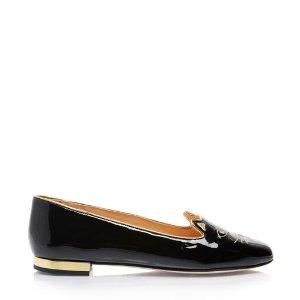 Charlotte OlympiaWomen's Designer Flat Shoes |- SOFT KITTY FLATS