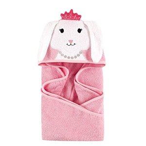 Hudson BabyAnimal Face Hooded Towel, Princess Bunny