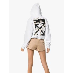 Off-White最高立减£500,变相75折经典款箭头印花帽衫
