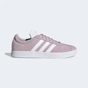 Adidas超温柔雾紫色VL Court 2.0 板鞋