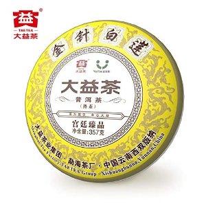 TAETEA Golden Needle White Lotus Organic Black Tea Ripe PU'ER TEA 357 Grams Collection Level
