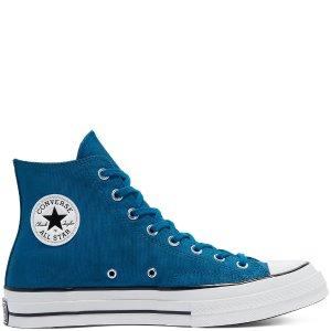 Converse孔雀蓝高帮帆布鞋