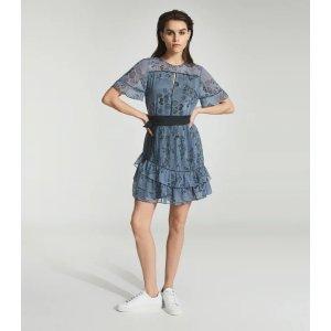 ReissDani Blue Floral Printed Mini Dress – REISS