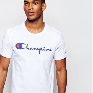 多色可选,低至¥73白菜价:Champion 中性 经典胸前logo款T恤