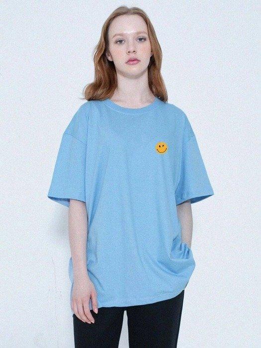 蓝色笑脸T恤