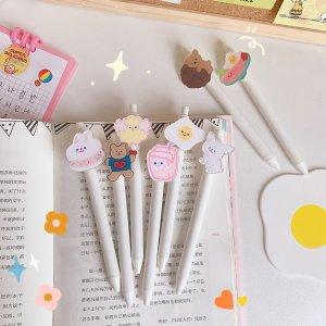 3.8特卖韩国可爱卡通中性笔 0.5mm黑色笔芯【可爱小兔/牛奶盒】