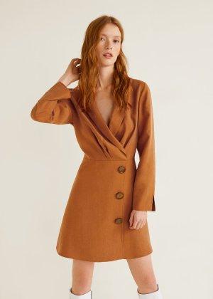 Buttons soft dress -  Women | Mango USA