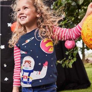 难得低至5折+无门槛包邮 快抢码即将截止:Mini Boden 儿童T恤、美裙特卖,最值得推荐的两个类别