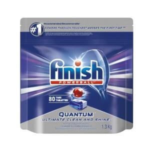 $13.99(原价$22.77) 单个折$0.17Finish 亮碟洗碗机清洁剂80个装 快速溶解 洗碗好轻松