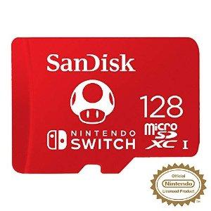 SanDisk蘑菇卡 Nintendo Switch内存卡 128GB
