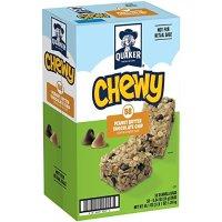 QUAKER Chewy Granola 花生酱巧克力碎块燕麦包 58条