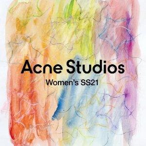 立减$300 限量联名也参加Acne Studios 全场闪促 囧脸卫衣、针织开衫、帽子等