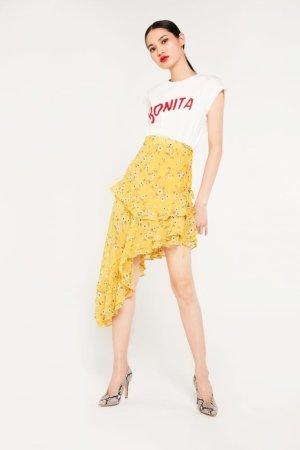 Cubic Asymmetric Ruffle Skirt