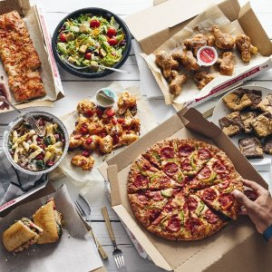$5.99 EachLarge 3-Topping Pizzas or Medium 2-Topping Handmade Pan Pizzas Deal @domino
