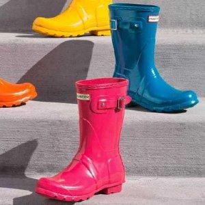 低至5折 女士长靴$90 免邮Hunter 夏日大促 儿童雨靴$53 乔治小王子同款 靴袜$15