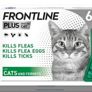 低至5折 £17收猫咪外驱6支史低价:Frontline 福来恩宠物体外驱虫药 告别跳蚤蜱虫