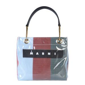 MarniGLOSSY GRIP STRIPED POLYAMIDE TOTE BAG
