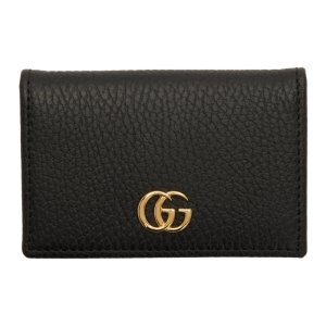 Gucci- Black GG Marmont Card Holder
