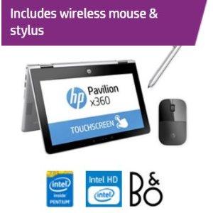 HP Pavilion x360 11-ad018ca 笔记本+ HP Pen + Z3700 黑色无线鼠标