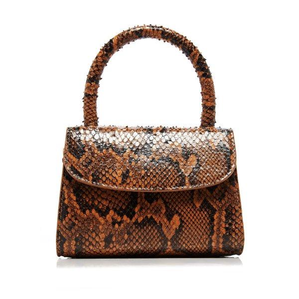 Mini 蛇压纹手提包