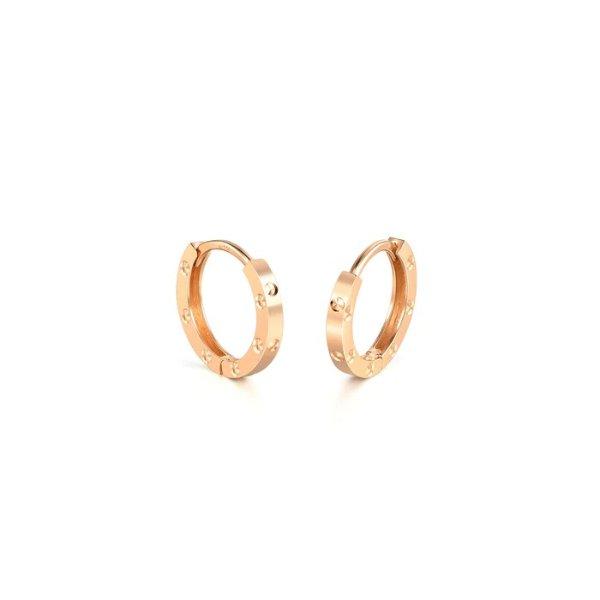 18k玫瑰金耳环