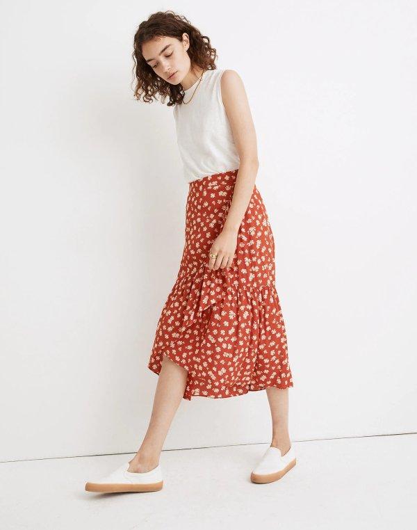 波点半身裙