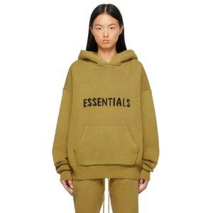 EssentialsGreen Knit Hoodie