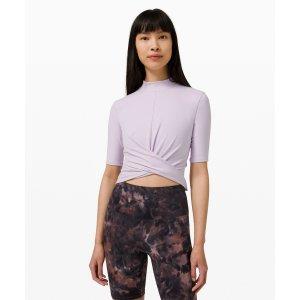 LululemonWrap Front Mock Neck Crop Short Sleeve | Women's Short Sleeve Shirts | lululemon