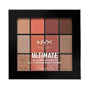 $15.67 NYX PROFESSIONAL MAKEUP Ultimate Multi-Finish Shadow Palette, Warm Rust, 0.48 Ounce @ Amazon