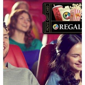 现价$10(原价$20)Regal Cinemas 影城电子礼卡