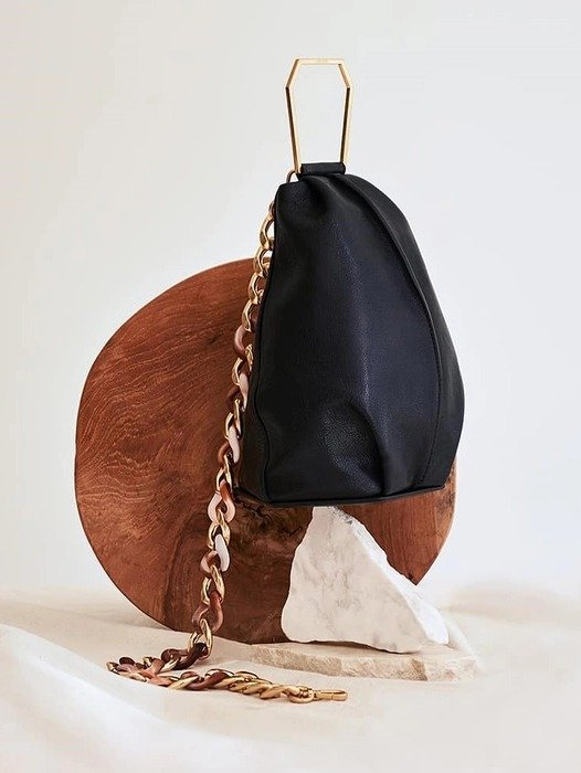 黑色小号链条包