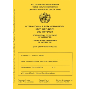 仅€2.98/本 有Covid-19专用页德国疫苗必备小黄本 想打新冠疫苗的可以准备起来~
