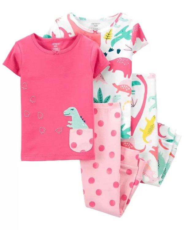 儿童紧身全棉睡衣4件套
