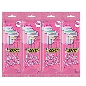 $12.12 每把仅$0.3 包邮BIC Silky Touch 一次性女士除毛刀 40个