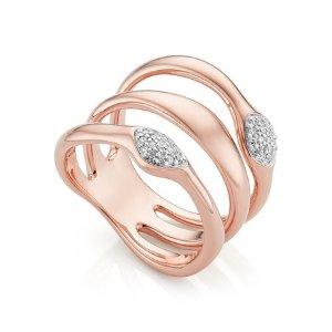 Monica VinaderNura 玫瑰金钻石戒指
