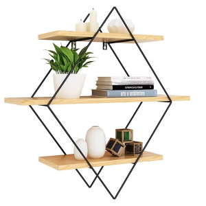 Metal Wood Wall Shelf - ApolloBox