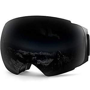 $19ZIONOR X4 Ski Snowboard Snow Goggles (Black)
