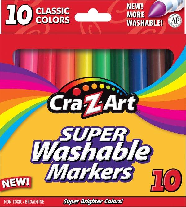 可洗彩色马克笔 10支